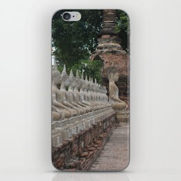 Buddha statues at Wat Yai Chai Mongkhon iPhone Skin