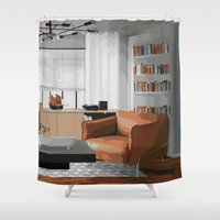 read Shower Curtains featuring Read by JuniqueStudio