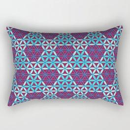 Triangles- optical illusion Rectangular Pillow