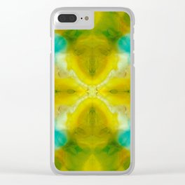 Abstract Symmetry V Clear iPhone Case