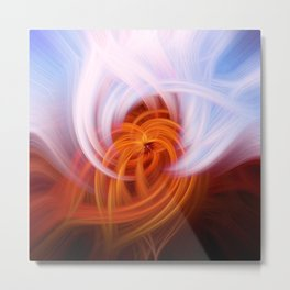 Heaven And Hell Light Fibers Metal Print
