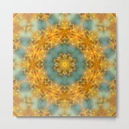 Heavens Flower Mandala Metal Print