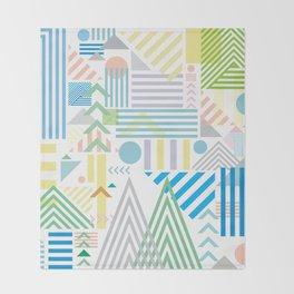 80s Geometric Mountains Throw Blanket