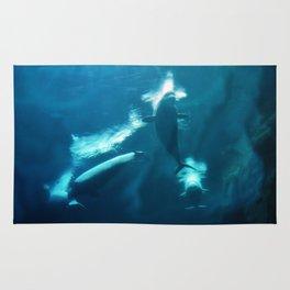 Underwater Beluga Whale Ballet Rug