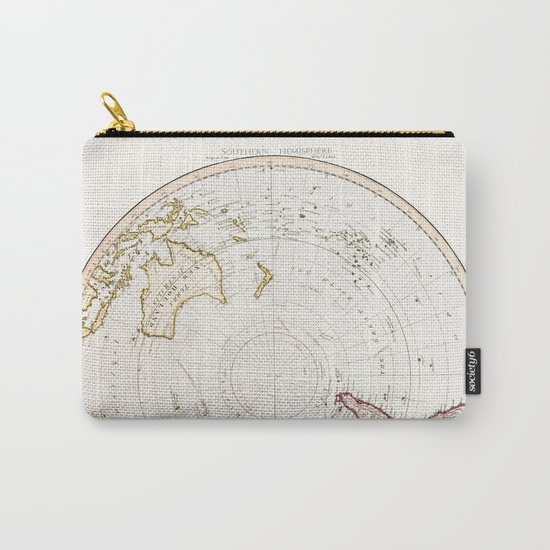 Southern Hemisphere - reproduction of William Faden's 1790 engraving Carry-All Pouch