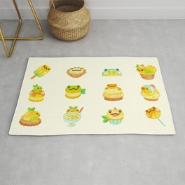 Sweet Lemon frog Rug