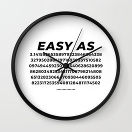 Easy As Pi Numbers Wall Clock