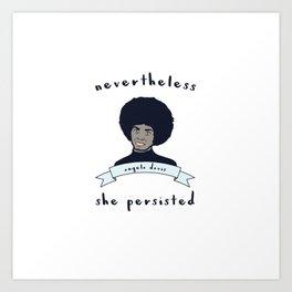 Nevertheless, Angela Davis Persisted Art Print