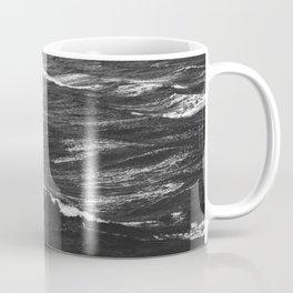 Black and white photo of a stormy sea Coffee Mug