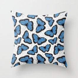 Blue morpho butterflies Throw Pillow