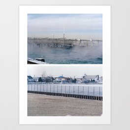 winter on the water. Art Print