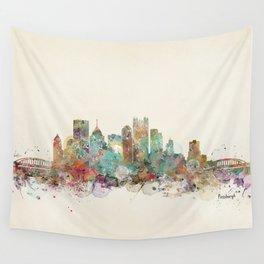 Pittsburgh Pennsylvania skyline Wall Tapestry