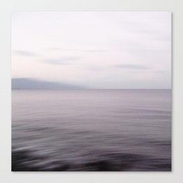 Sea Flow. Seascape with clouds Canvas Print