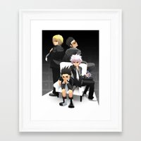 hunter x hunter Framed Art Prints featuring Hunter x Hunter: Mafia by akayashi