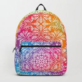 rainbow aura mandala Backpack