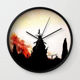 Obsidian Flames Wall Clock