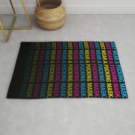 Just Wear A F*cking Mask in CMYK Rug