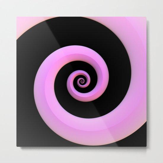Curl, Pink Metal Print