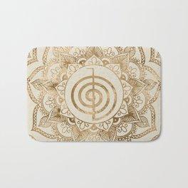 Cho Ku Rei - pastel gold lotus mandala Bath Mat