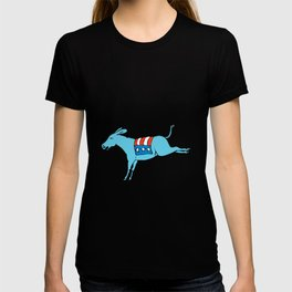 American Donkey Kicking Color Drawing T-shirt