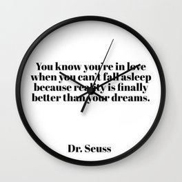 you know you're in love Wall Clock