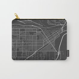 Billings Map, USA - Gray Carry-All Pouch