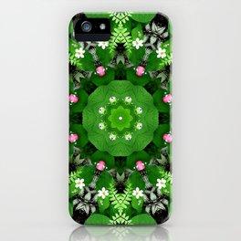 Fern and friends kaleidoscope, mandala - Maidenhair, Adiantum 899 kal 15 s6-4 iPhone Case
