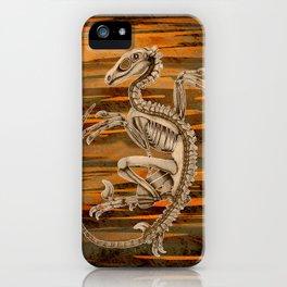 Raptor Skeleton iPhone Case