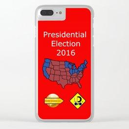 2016 Presidential Elecion Clear iPhone Case