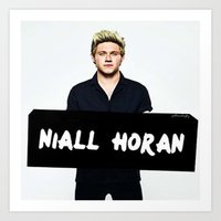 niall horan Art Prints featuring Niall Horan by girllarriealmighty