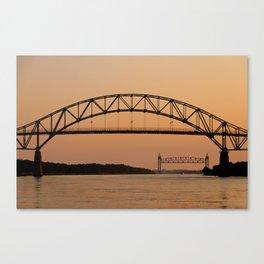 Bourne Bridge/Cape Cod Canal Canvas Print
