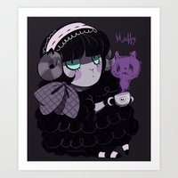 goth Art Prints featuring Goth Tea by Princess Misery