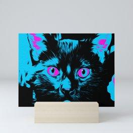 Scary Cat Stare Mini Art Print