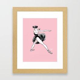 Black swan CoolNoodle Framed Art Print