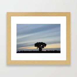 Striped prairie sky... Framed Art Print