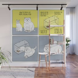 How to Stop a Cat from Stealing Food Wall Mural