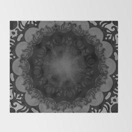 Dark Mandala #1 Throw Blanket