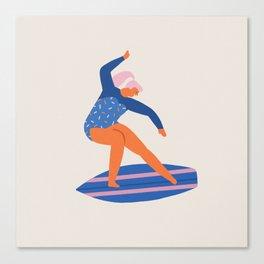 Surf girl Canvas Print