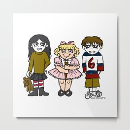 Trixie the Vampire Slayer with Little Vampires Metal Print