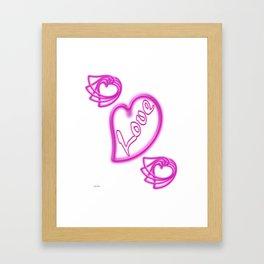 Hot Neon Love For Valentine's Day Framed Art Print