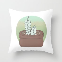 Crassula Deceptor Guardians Throw Pillow