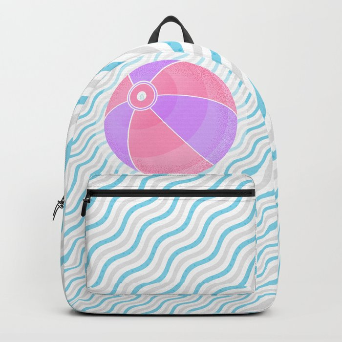 020 volleyball game on the beach Backpack