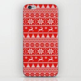 Fair Isle Christmas iPhone Skin
