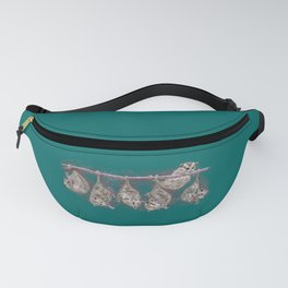 Possum Family - Teal Fanny Pack
