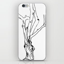 unfinished tree iPhone Skin