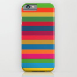 Color Stripes - horizontal - two iPhone Case