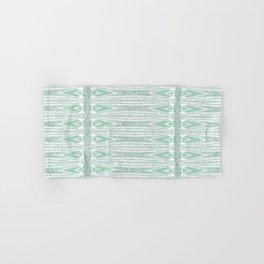Velvety Stripe Spearhead in Pale Green Hand & Bath Towel