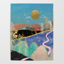 Magical starry night Poster