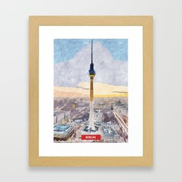 Berlin city skyline Framed Art Print