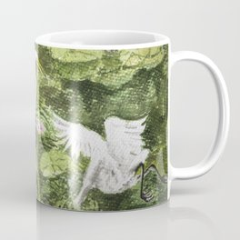 A couple of Storks in the Water-lily Lake Coffee Mug